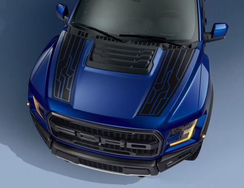Ford F150 Raptor 2017 hood graphics package kit decal sticker - 4