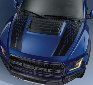 Ford F150 Raptor 2017 Haubengrafikpaket Kit Aufkleber Aufkleber - 3
