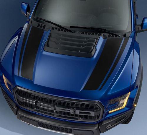 Ford F150 Raptor 2017 Haubengrafikpaket Kit Aufkleber Aufkleber - 6