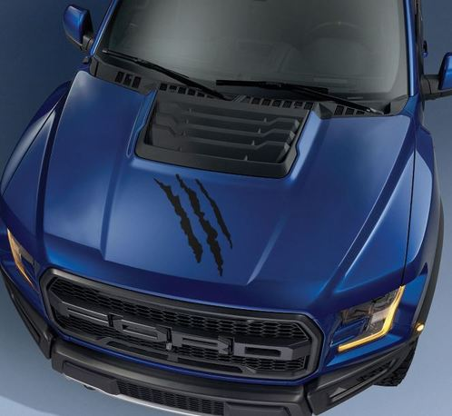 Ford F150 Raptor 2017 hood claw graphics decal sticker