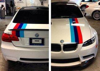 M colors Stripes Rally hood trunk Racing Motorsport vinyl decal sticker for BMW