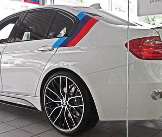 BMW M color stripes Rally side top Racing Motorsport vinyl decal sticker