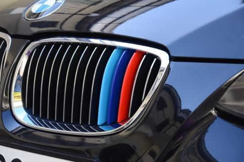 BMW M colors kidney grille stripes 3 set of stripes vinyl decal sticker