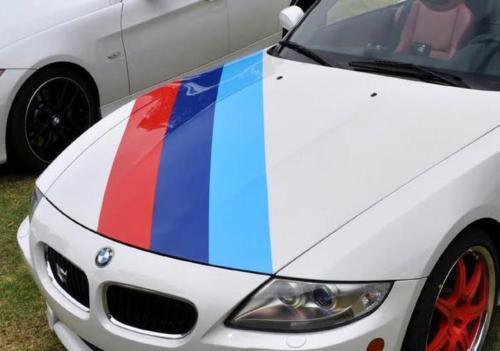BMW M color stripes Rally Hood Racing Motorsport Performance vinyl decal sticker
