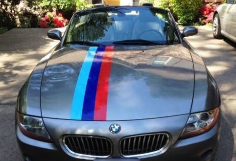 BMW Fading Tail Flag and Stripes Rally M Colors voor BMW Z4 Vinyl Decal Sticker