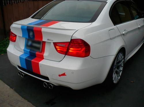 M colors Stripes Rally back trunk Racing Motorsport vinyl decal sticker for BMW