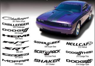 Dodge Challenger 42 Zoll breite Windschutzscheibe Banner srt Hemi Mopar Hellcat