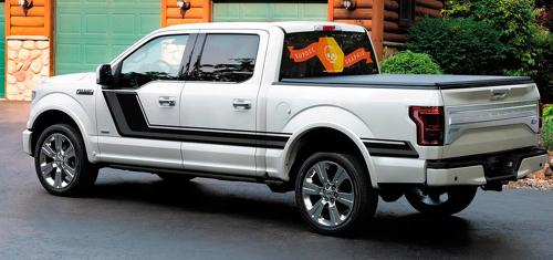 NEW Quake Ford F-150 Hockey Tremor Style Decals Stripes Vinyl Graphics