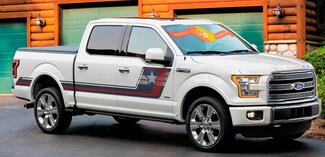 NEW Captain America theme superhero patriotic Ford F-150 Hockey Tremor Style Decals Stripes Vinyl Graphics