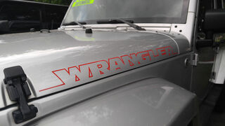 2pcs NEW WRANGLER Hood Side Decal Graphic JEEP WRANGLER RUBICON SAHARA Any Color