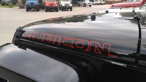 2pcs NEW RUBICON Hood Side Decal Graphic JEEP WRANGLER RUBICON RED Color