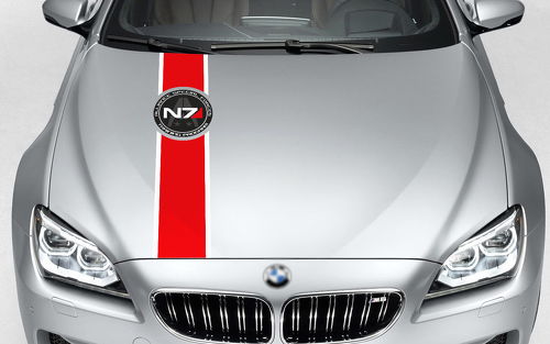 Mass Effect N7 Logo Systems Alliance Navy ALLIANCE SPECIAL FORCES hood decals stickers