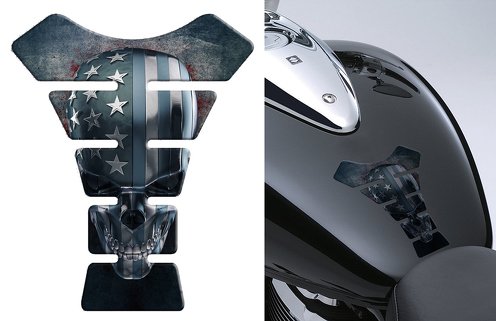 Scull 3D Moto MOTOBIKE Gasbrennstoff Tank Pad Protector Aufkleber Emblem Aufkleber