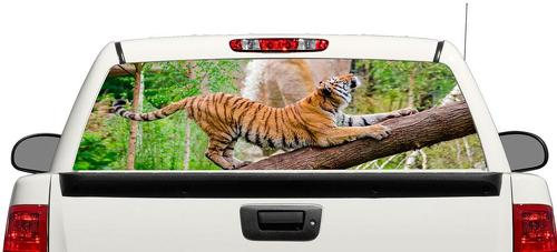 Tiger jungle animal Rear Window Decal Sticker Pick-up Truck SUV Car 3