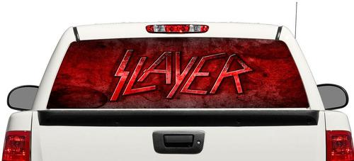 Slayer trash metal Rear Window Decal Sticker Pick-up Truck SUV Car 3