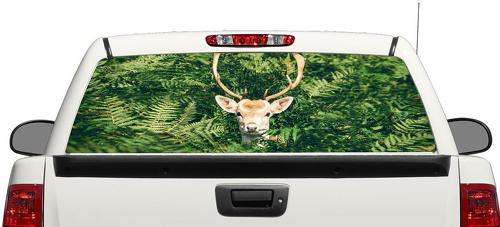 Deer Camo Hanting Rear Window Decal Sticker Pick-up Truck SUV Car 3