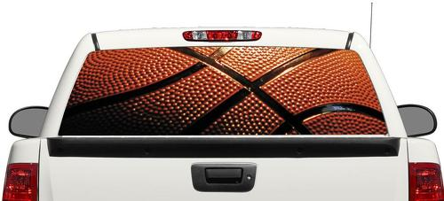 Basketball NBA sport ball Rear Window Decal Sticker Pick-up Truck SUV Car 3