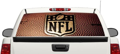NFL American football sport ball Rear Window Decal Sticker Pick-up Truck SUV Car 3