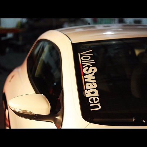 VW GOLF Racing Sport Car Window Windowshield Sticker Decal Vinyl