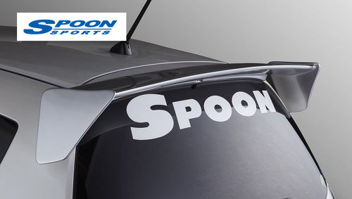Spoon Sports BLACK W800mm Windowshield Team Sticker Decal
