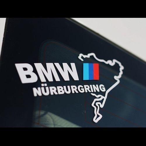 Nurburgring BMW Racing Sport Car WindowShield Sticker Sticker