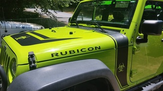 Kit of Jeep Rubicon Hood Wrap Blackout stripe Zombie edition apocalypse biohazard Decal Sticker