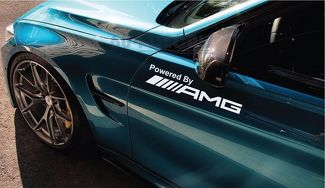 Powered by AMG Mercedes Decal Sticker CLA GLA C63S S63 E43 G55 G63 Pair