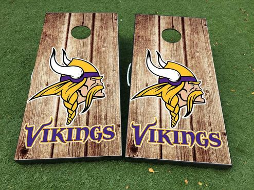 Minnesota Vikings Cornhole Brettspiel Aufkleber VINYL WRAPS mit LAMINATED
