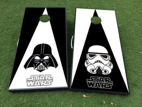 Star Wars Darth Vader Stormtrooper Cornhole Board Game Decal VINYL WRAPS with LAMINATED