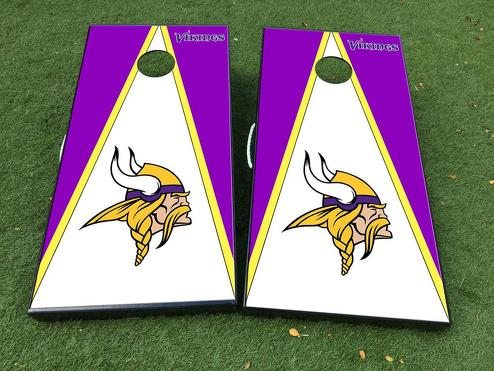 Vikings Cornhole Board Game Decal VINYL WRAPS with LAMINATED