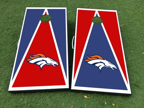 Denver Broncos Cornhole Brettspiel Aufkleber VINYL WRAPS mit LAMINATED