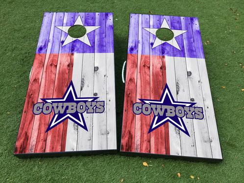 Dallas Cowboys Cornhole Board Game Decal VINYL WRAPS with LAMINATED