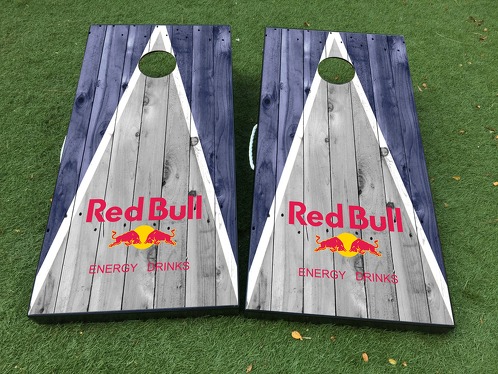 Red Bulls New York Cornhole Board Game Decal VINYL WRAPS with LAMINATED