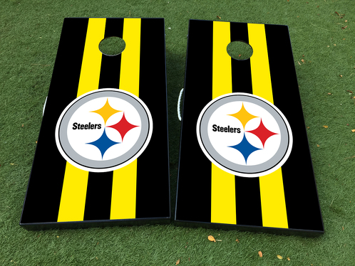 Pittsburgh Steelers Cornhole Board Game Decal VINYL WRAPS with LAMINATED