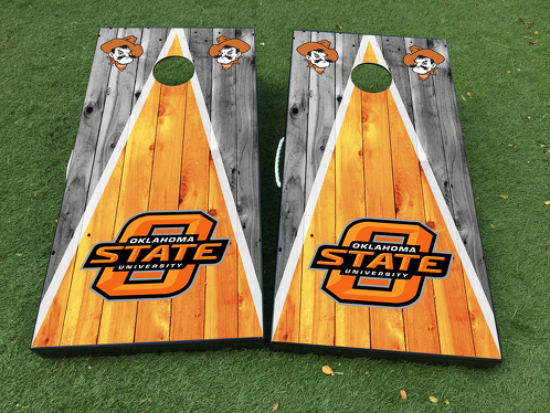 Oklahoma State University Cornhole Board Game Decal VINYL WRAPS with LAMINATED