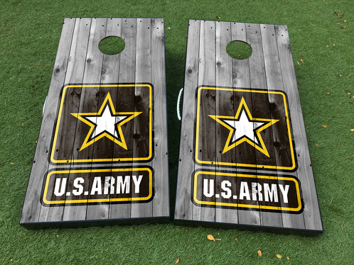 US Army military Cornhole Board Game Decal VINYL WRAPS with LAMINATED