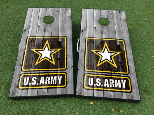 US Army Militär Cornhole Brettspiel Aufkleber VINYL WRAPS mit LAMINATED