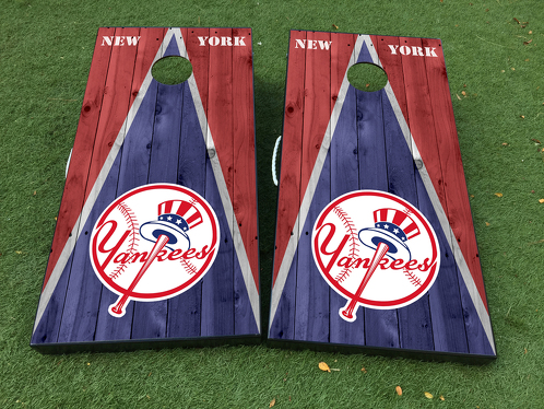 New York Yankees Cornhole Board Game Decal VINYL WRAPS with LAMINATED
