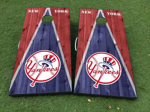 New York Yankees Cornhole Brettspiel Aufkleber VINYL WRAPS mit LAMINIERT