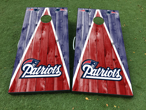 New England Patriots Cornhole Board Game Decal VINYL WRAPS with LAMINATED