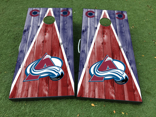 Colorado Avalanche Cornhole Board Game Decal VINYL WRAPS with LAMINATED