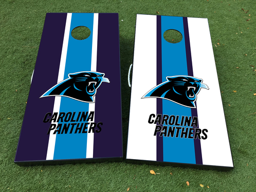 Carolina Panthers logo Cornhole Board Game Decal VINYL WRAPS with LAMINATED
