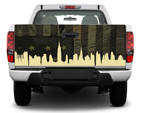 American USA Military flag Tailgate Decal Sticker Wrap Pick-up Truck SUV Car