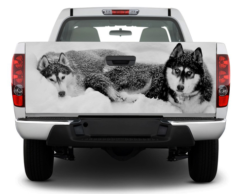 Huskies Wolf Tailgate Decal Sticker Wrap Pick-up Truck SUV Car