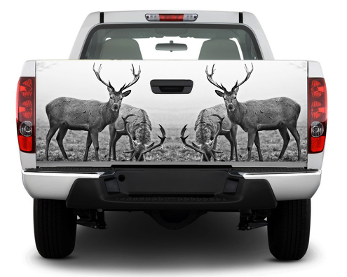 Deer Hunting Animal Tailgate Decal Sticker Wrap Pick-up Truck SUV Car