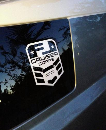 2x FJ Cruiser CORPS window vinyl decal sticker