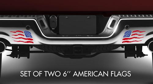 2x Std Reversed USA American Flag Stars Stripes Patriotic Car Truck Vinyl Sticker Decal