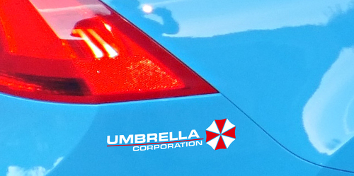 2x Umbrella Corporation Resident Evil Game Zombie Car Body Laptop Decal Sticker Vinyl Sticker Decal