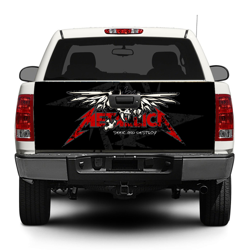 Metallica trash metal rock Tailgate Decal Sticker Wrap Pick-up Truck SUV Car
