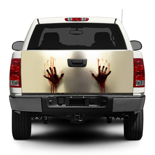 Zombie blood help Tailgate Decal Sticker Wrap Pick-up Truck SUV Car